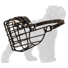 Perfect fit wire basket Black Russian Terrier muzzle