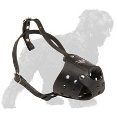 Easy wearing leather Black Russian Terrier muzzle