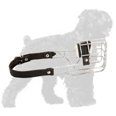 Fully adjustable Black Russian Terrier muzzle