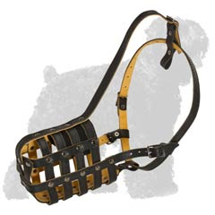 Perfect Air Circulation Leather Dog Muzzle