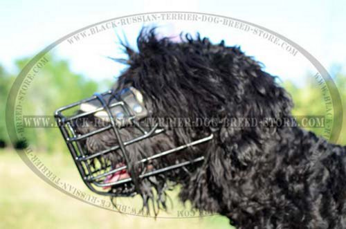 Extra comfort Dog muzzle for Black Russian Terrier