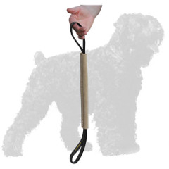 Training Leather Black Russian Terrier Bite Tug for Puppies