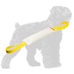 Fire Hose Black Russian Terrier Bite Tug with Durable Handle