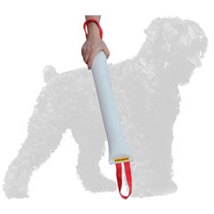 Durable Fire Hose Russian Terrier Bite Tug with Comfortale Handles