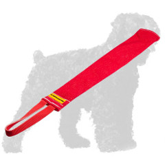French Linen Russian Terrier Rag with Handle for Prey Drive