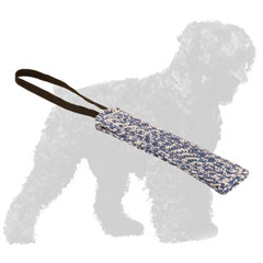 Durable French Linen Russian Terrier Puppy Tug for Bite Training
