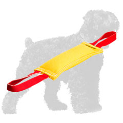 French Linen Russian Terrier Bite Tug with 2 Side Handles