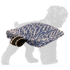 Convenient French Linen Russian Terrier Bite Tug for Training