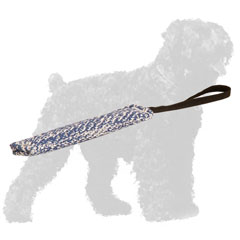 Reliable Stitched French Linen Russian Terrier Bite Tug with Handle