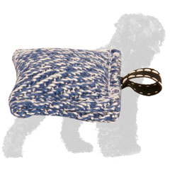 Reliable French Linen Russian Terrier Bite Tug with Small Loop