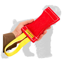 Easy to Use French Linen Russian Terrier Puppy Tug for Training