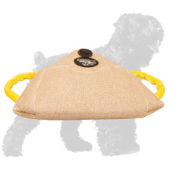 Training Jute Russian Terrier Bite Builder with Soft Handles