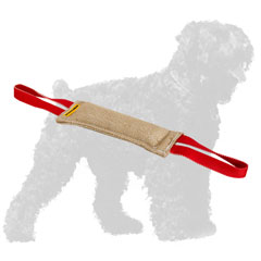 Strong Stitched Training Jute Black Russian Terrier Tug