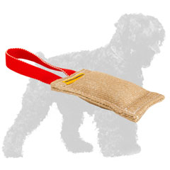 Practical Jute Black Russian Terrier Tug with Reliable Handle