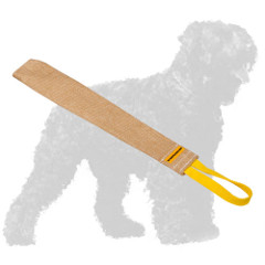 Jute Black Russian Terrier Rag with Handle for Prey Drive Training