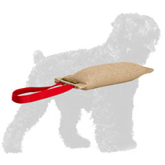 Strong Jute Black Russian Terrier Tug with Comfortable Handle