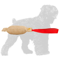 Jute Russian Terrier Tug for Bite Training