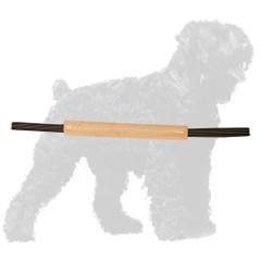 Leather Russian Terrier Bite Tug with Convenient Handles