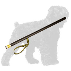 Quality Plastic Russian Terrier Stick with Leather Covered Handle Grip