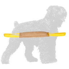 Hand-Made Training Leather Russian Terrier Bite Tug